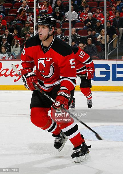 ab28014135f Colin White of the New Jersey Devils skates against the Ottawa Senators  during the game at