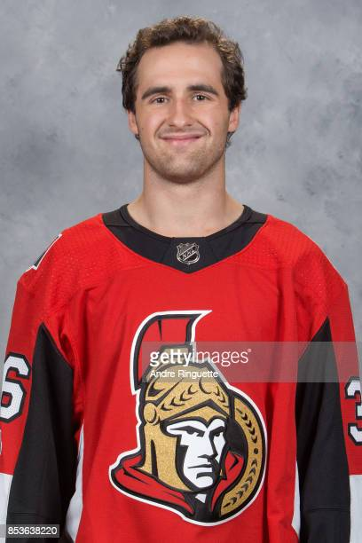 Colin White of the Ottawa Senators poses for his official headshot for the 20172018 season on September 14 2017 at Canadian Tire Centre in Ottawa...
