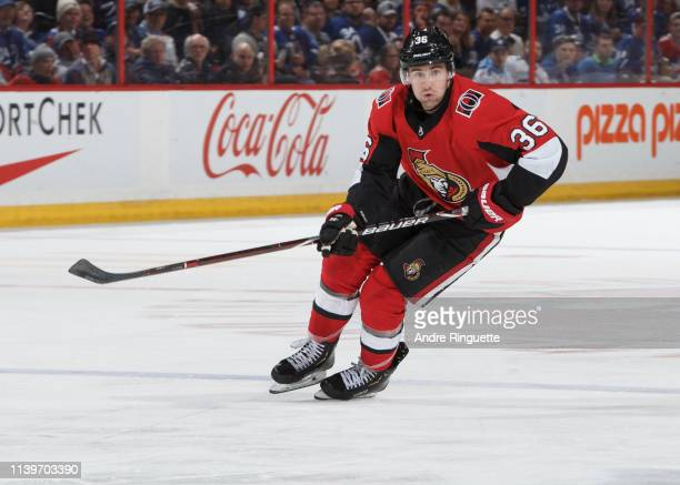 Colin White of the Ottawa Senators skates against the Toronto Maple Leafs at Canadian Tire Centre on March 30 2019 in Ottawa Ontario Canada