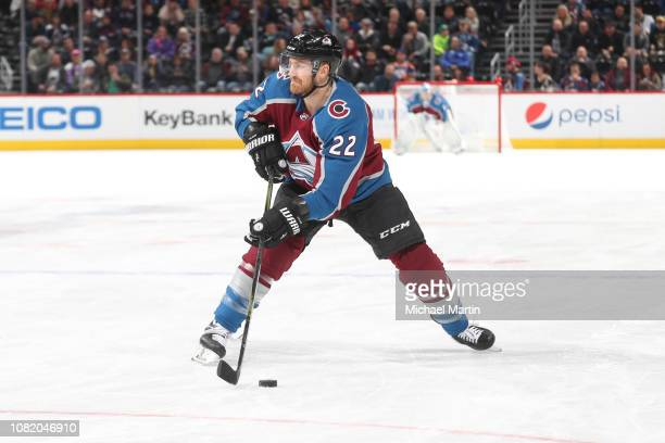 Colin Wilson of the Colorado Avalanche skates against the Edmonton Oilers at the Pepsi Center on December 11 2018 in Denver Colorado