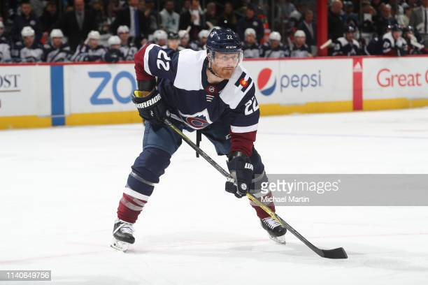 Colin Wilson of the Colorado Avalanche skates against the Winnipeg Jets at the Pepsi Center on April 4 2019 in Denver Colorado The Avalanche defeated...