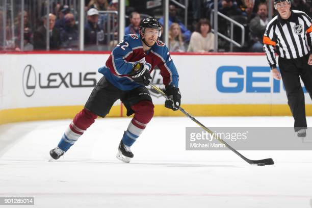 Colin Wilson of the Colorado Avalanche skates against the Winnipeg Jets at the Pepsi Center on January 2 2018 in Denver Colorado