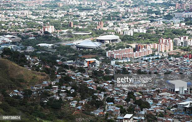 Coliseo El Pueblo indoor sporting arena which will play host to the FIFA Futsal World Cup is seen on September 6 2016 in Cali Colombia