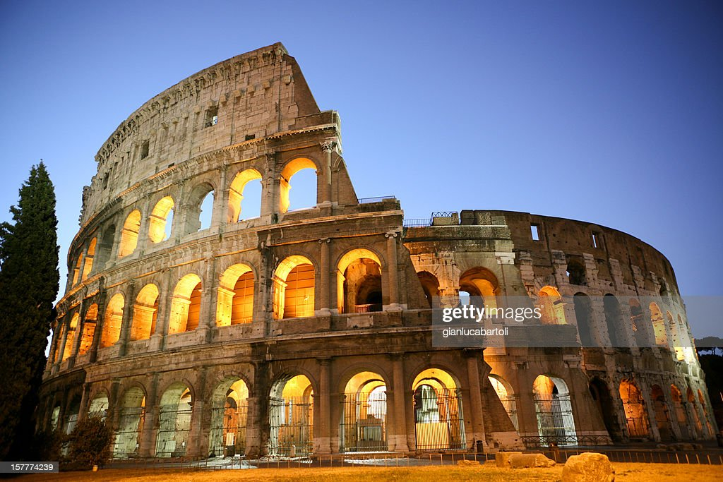 Coliseum by Night : Stock Photo
