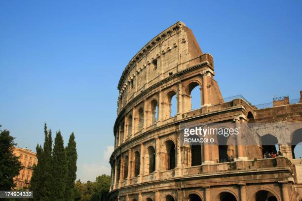 Coliseum in the evening sun, Rome Italy