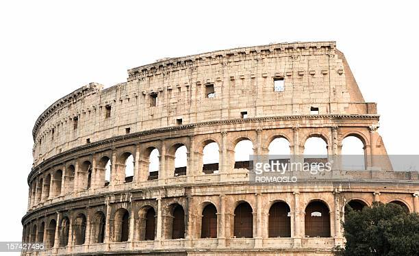 Coliseum isolated on white, Rome Italy