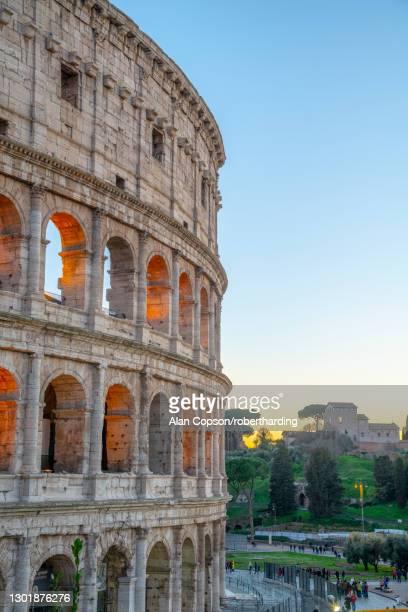 coliseum, unesco world heritage site, rome, lazio, italy, europe - alan copson stock pictures, royalty-free photos & images