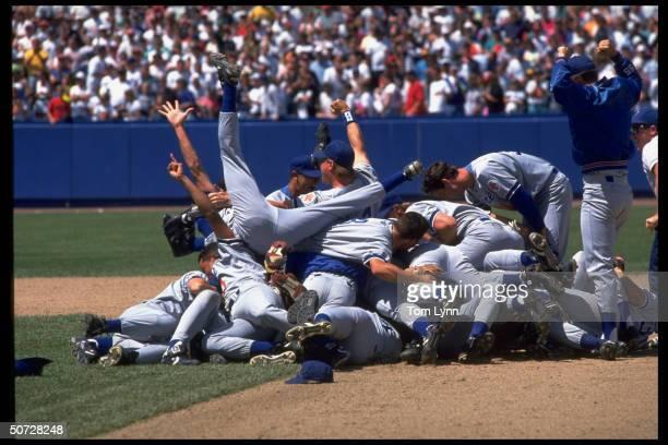 World Series. Pepperdine's team victorious on field.