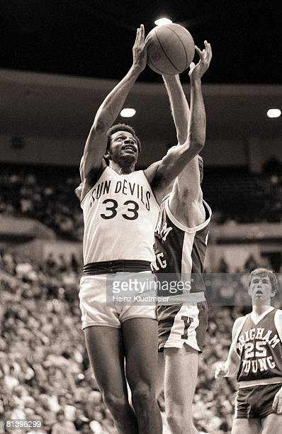 Coll Basketball Arizona State's Lionel Hollins in action vs Brigham Young 2/14/19752/19/1975