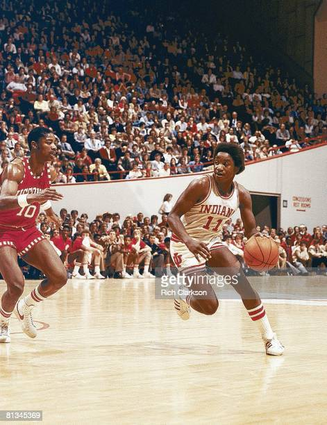 Coll Basketball Indiana's Isiah Thomas in action vs Ohio State Bloomington IN 3/2/1980