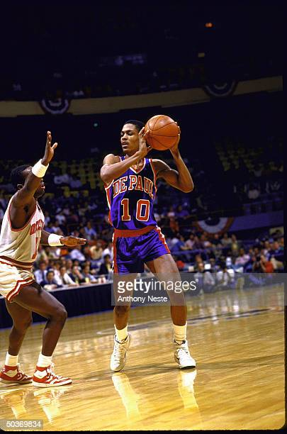 NCAA Tournament DePaul Rod Strickland in action vs Oklahoma