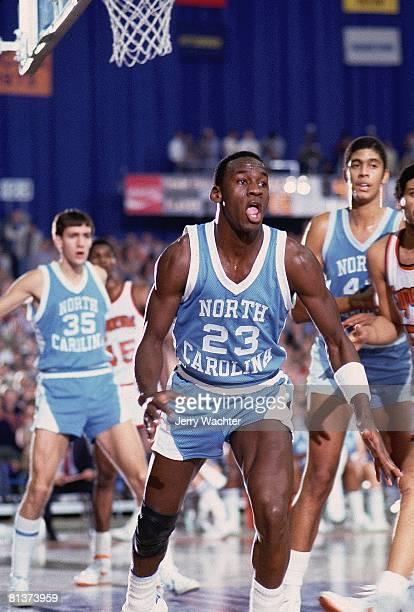 Coll Basketball North Carolina's Michael Jordan in action vs Syracuse Syracuse NY 1/1/1983
