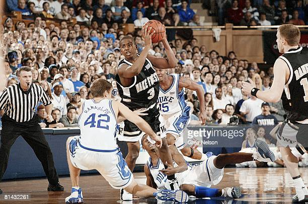 Coll Basketball Wake Forest Chris Paul in action vs Duke Durham NC 1/17/2004