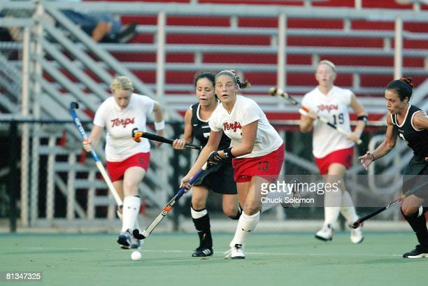 Coll Field Hockey Maryland's Lauren Powley in action vs Princeton College Park MD 9/26/2003