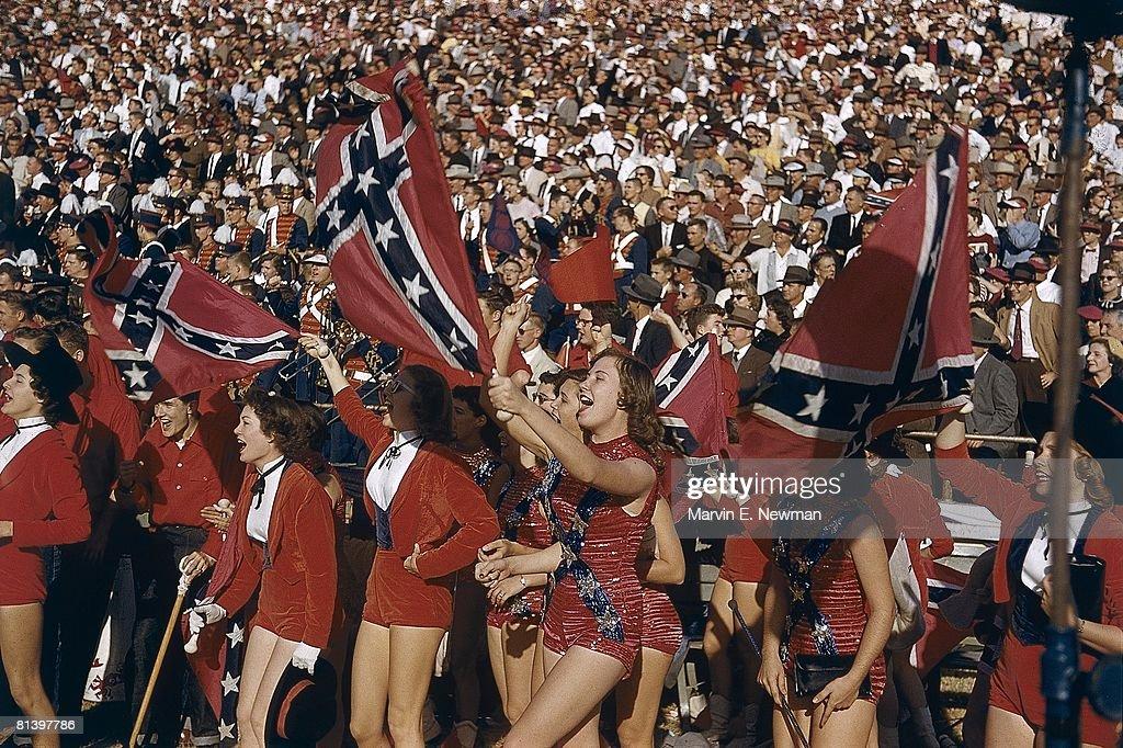 Cheerleaders, 1956 Cotton Bowl : News Photo