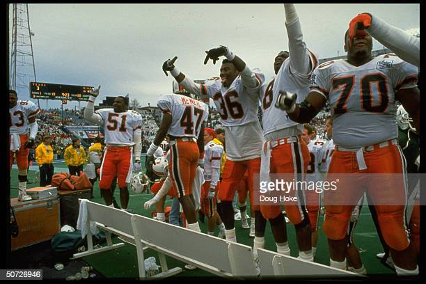 Cotton Bowl Miami's Lamar Thomas and Hurlie Brown victorious after game vs Texas