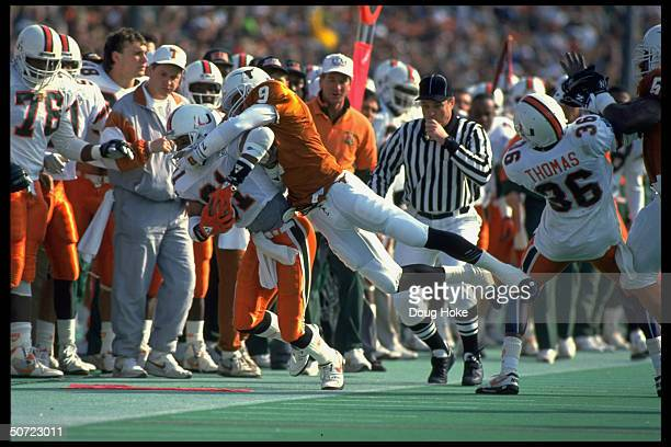Cotton Bowl Miami's Wesley Carroll in action vs Texas Mark Berry
