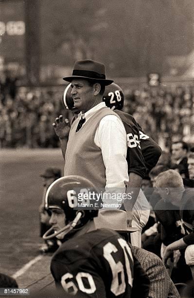 Coll Football Iron Bowl Alabama coach Paul Bear Bryant during game vs Auburn Birmingham AL 12/2/1961