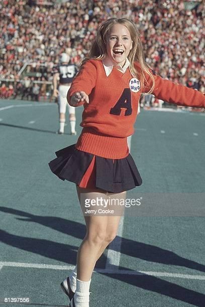 Coll Football Miscellaneous Auburn cheerleader in action during game vs Alabama Birmingham AL