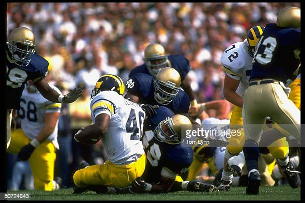 Notre Dame Anthony Peterson in action vs Michigan Burnie Legette