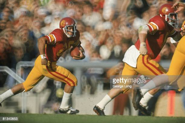 Coll Football Rose Bowl USC's Anthony Davis in action vs Ohio State Pasadena CA 1/1/1973