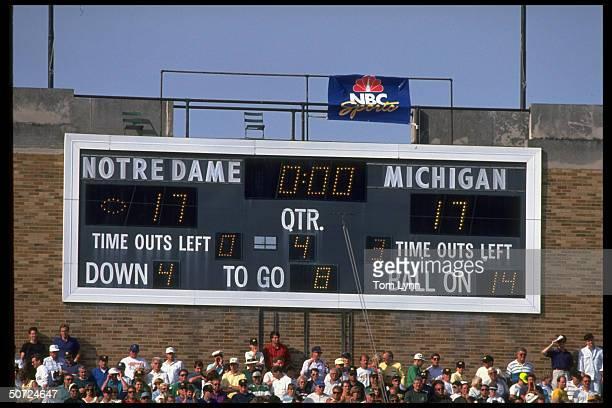 Scoreboard: Notre Dame & Michigan are tied at 17 in the 4th quarter.