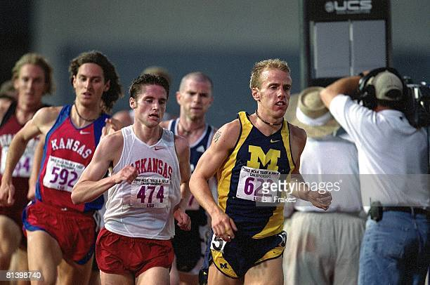 Coll, Track: NCAA championships, Michigan Alan Webb in action, winning during 1500M finals, Baton Rouge, LA 5/30/2002