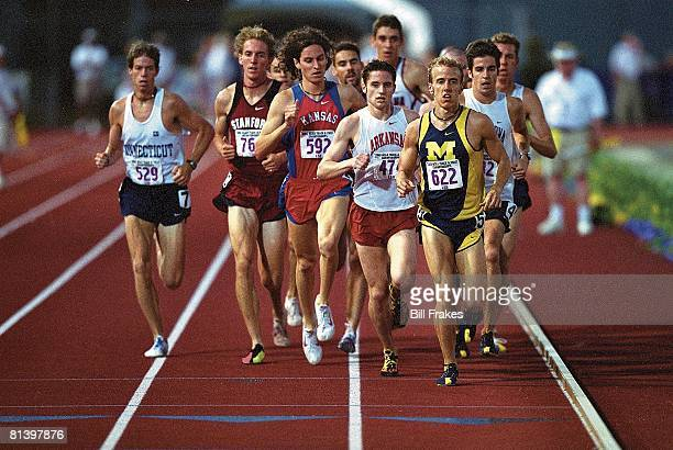 Coll, Track: NCAA championships, Michigan's Alan Webb in action, winning during 1500M finals, Baton Rouge, LA 5/30/2002