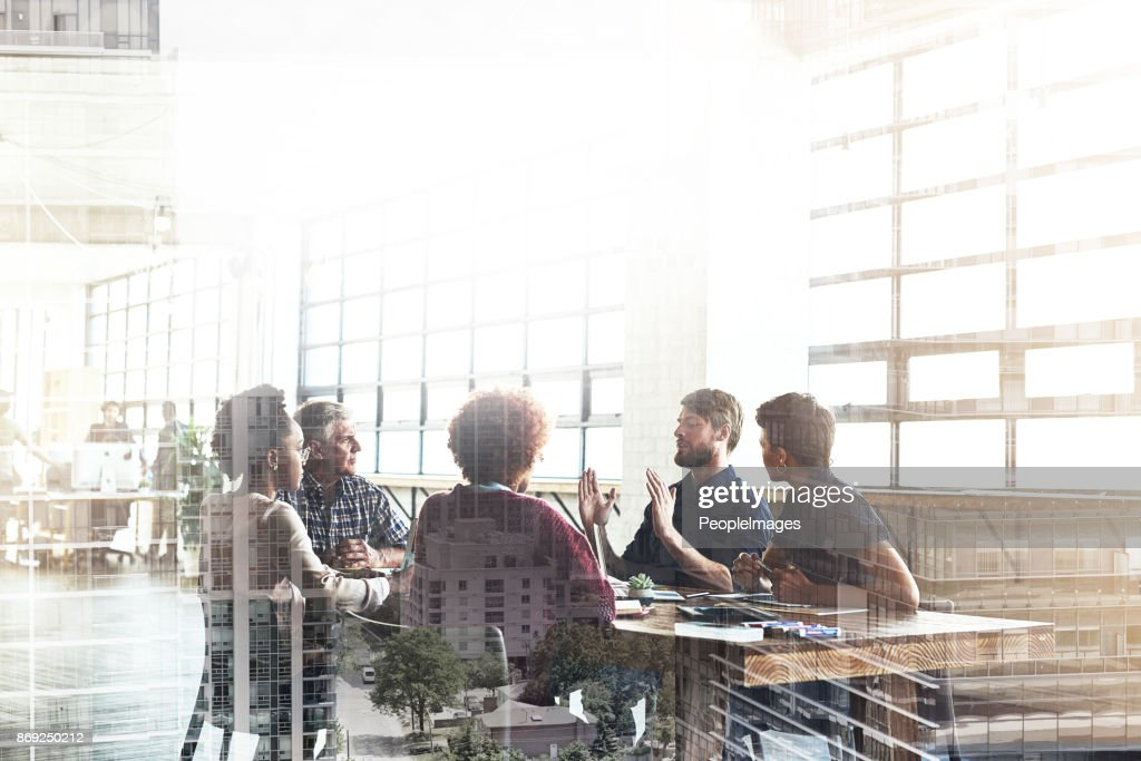 Collaborating to build the city of their dreams : Stock Photo