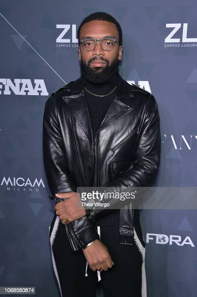Collaborator of the year on behalf of Reebok x Pyer Moss designer Kerby Jean-Raymond attends the 2018 Footwear News Achievement Awards at IAC...
