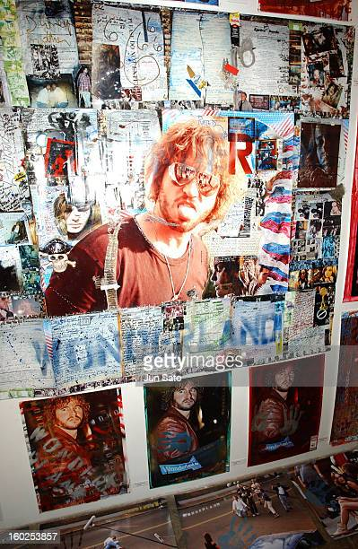 Collage by Val Kilmer and Ali Alborzi during Val Kilmer 'Wonderland' Exhibit in Tokyo at Gallery 360 Degrees in Tokyo Japan