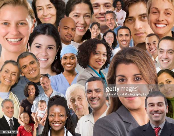 Collage of business people's faces