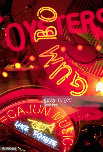collage of cajun culture signs - new orleans stock pictures, royalty-free photos & images