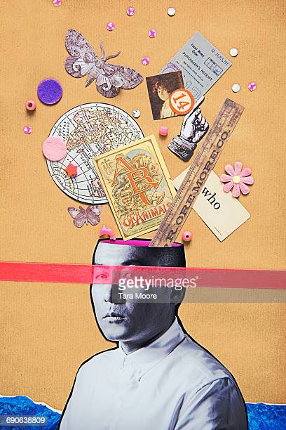 collage of man thinking