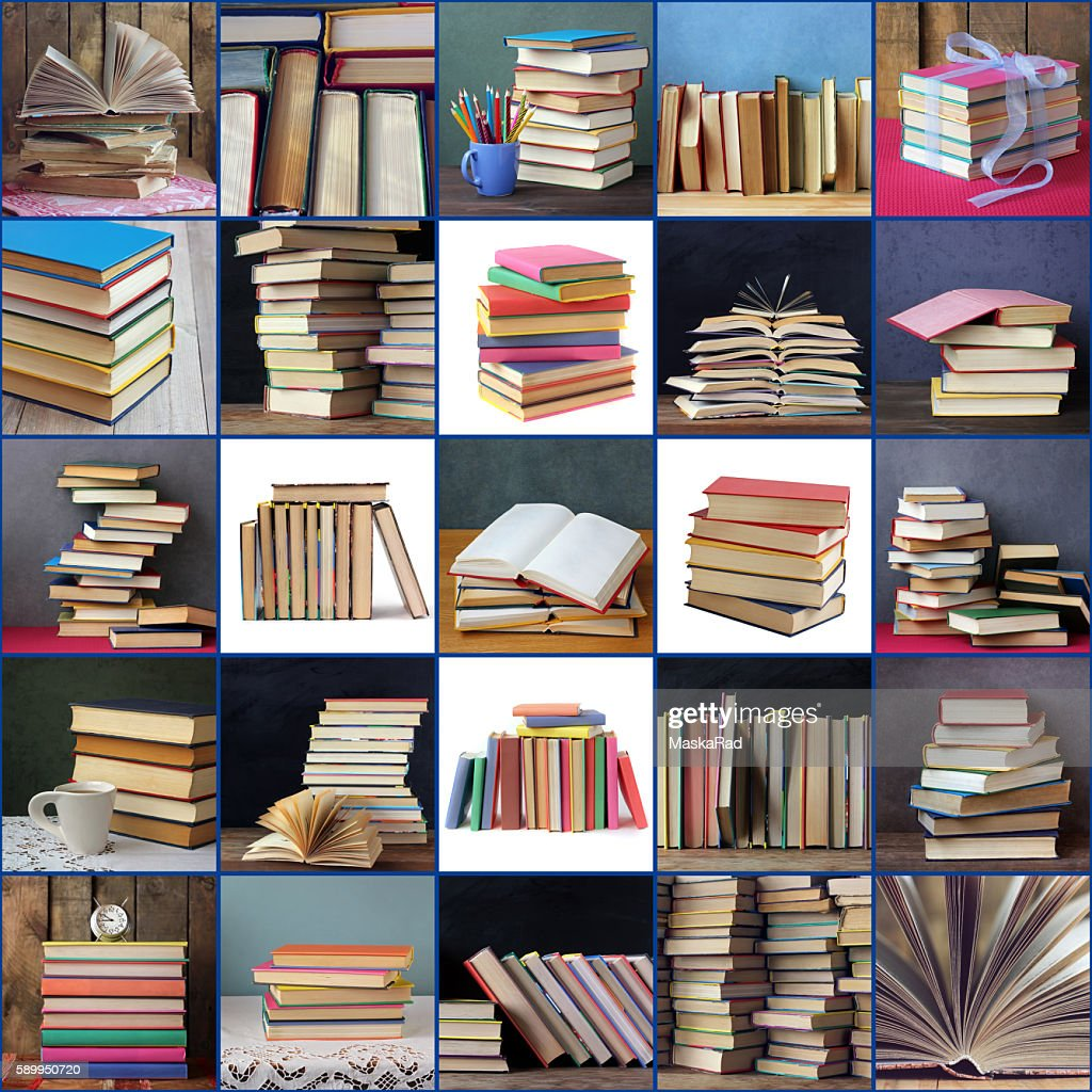 Collage Of Pictures From Books Back To School Stock Photo Getty Images