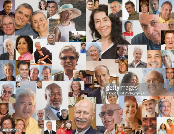 collage of smiling faces - john lund stock pictures, royalty-free photos & images