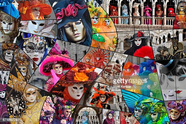 Collage of the Carnival of Venice , Italy