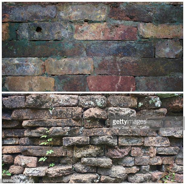 collage of walls - hong quan stock pictures, royalty-free photos & images