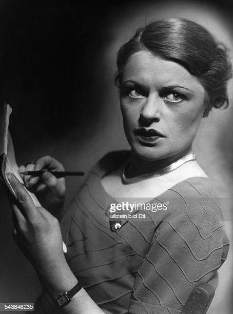 Collande Gisela von Actress Germany* in the play 'On the Rocks' by George Bernard Shaw Volksbuehne Berlin Photographer Rene Fosshag 1934Vintage...