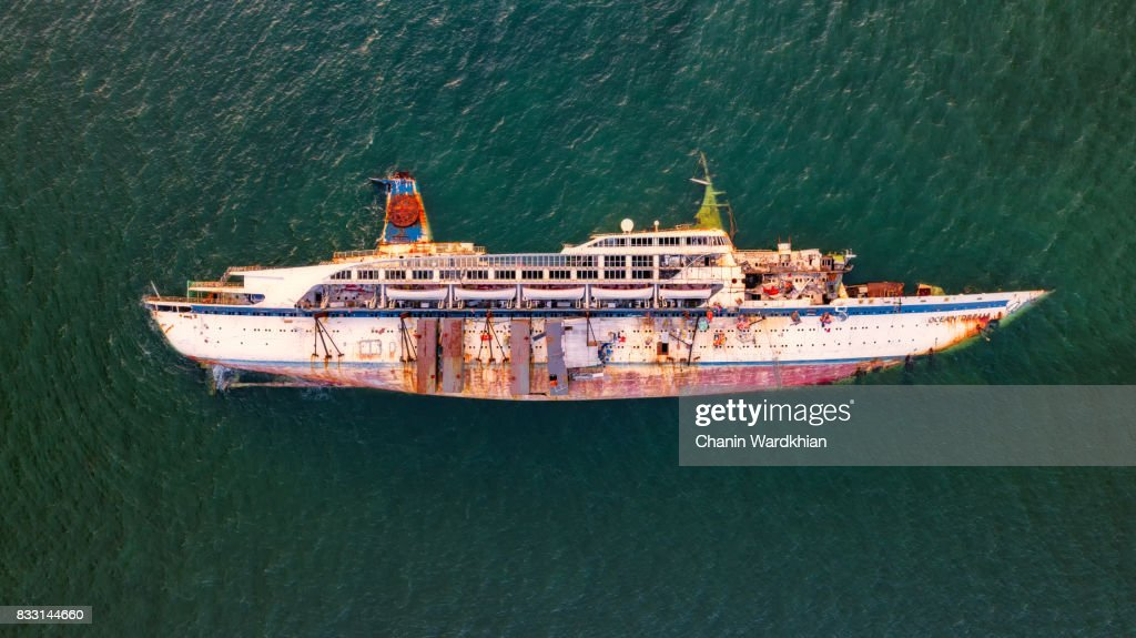 A Collapse Cruise Ship In A Thai Bay Laemchabangport At Thailand - Cruise ship in thailand