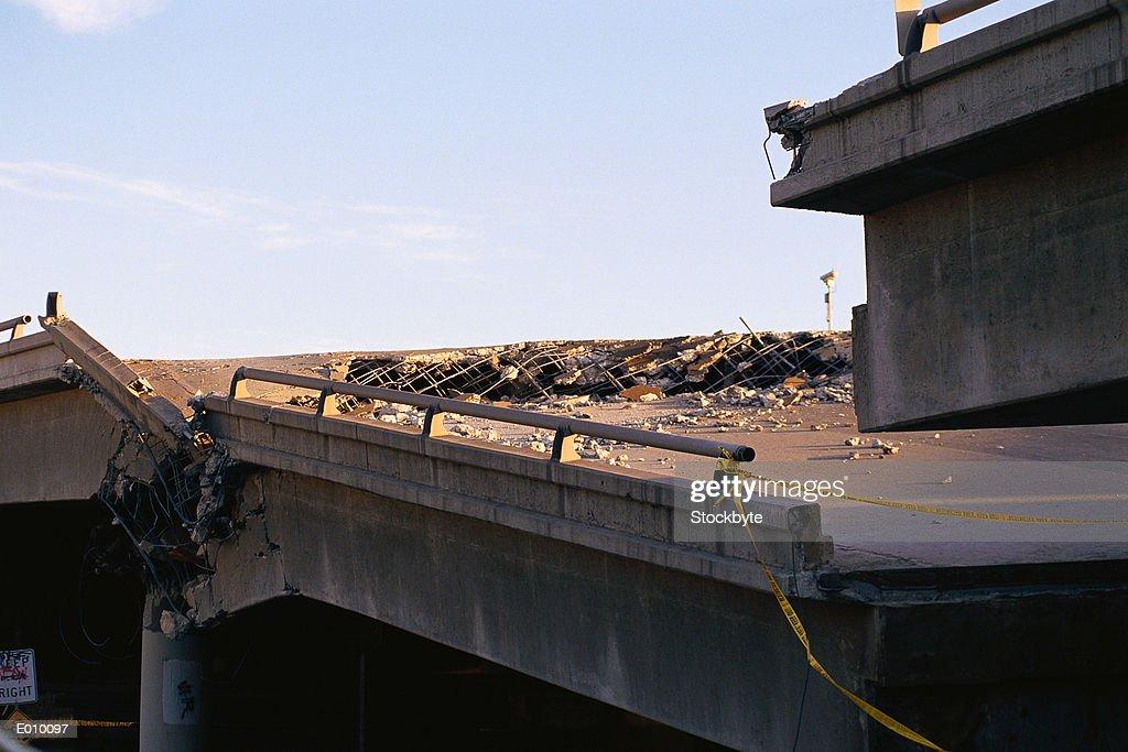 Collapsed bridge : Stock Photo