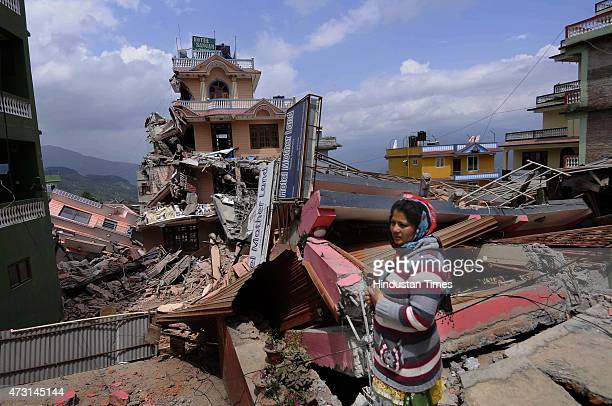 Collapsed buildings and houses after a fresh earthquake of 73magnitude hit Nepal on May 13 2015 in Dolakha Nepal Second powerful earthquake in less...