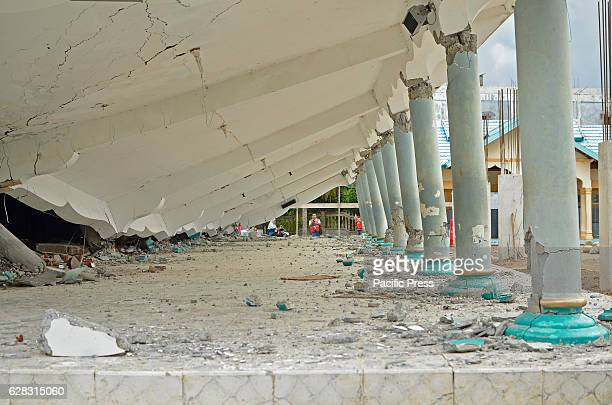 Collapsed mosque due to an earthquake measuring 6.5 on the Richter scale rocked Pidie Jaya, Aceh Province. Killing at least 92 people and causing...