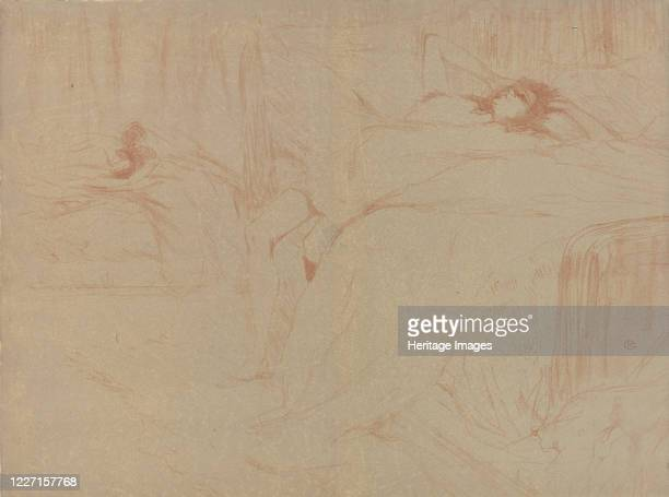 Collapsed on the Bed, from the series Elles, 1896. Artist Henri de Toulouse-Lautrec.