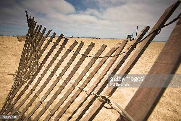 Collapsing Beach Fence