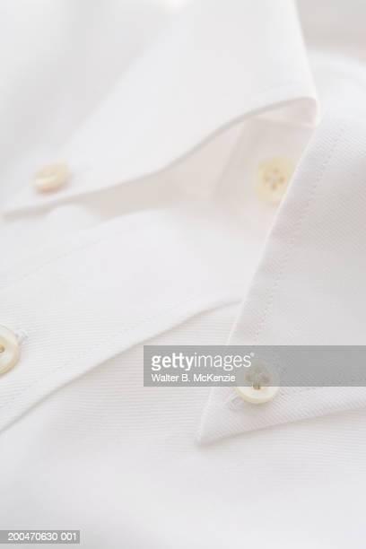 collar of white shirt - colletto foto e immagini stock