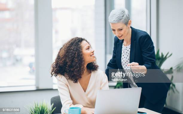 colleagues business woman working - leading stock pictures, royalty-free photos & images