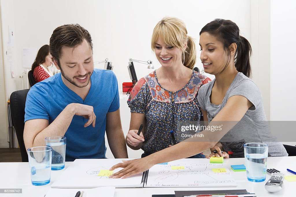 Colleagues in an office Sweden. : Stock Photo