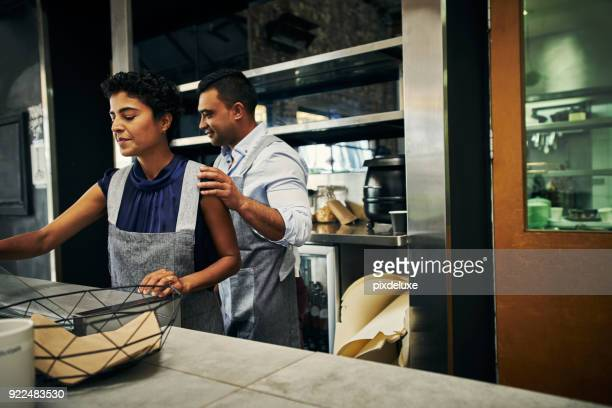 Colleagues in the business of making coffee