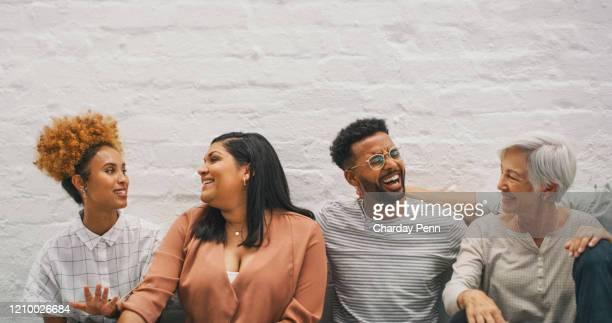 colleagues like friends - people in a row stock pictures, royalty-free photos & images